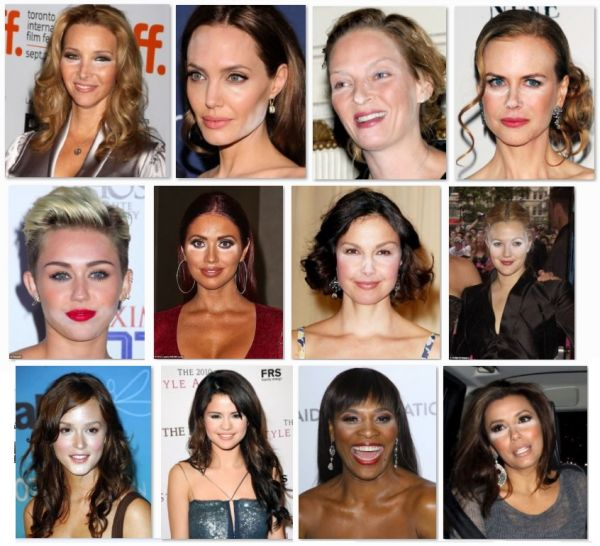 Неудачный макияж - белая пудра на лицах знаменитостей Фото - фотоподборка