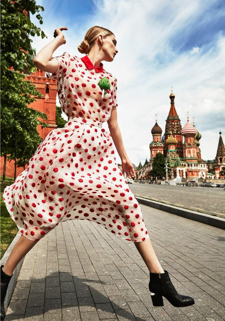 Фотопроект Aizel.Ru ко Дню России 12 июня 2016 - Ирина Николаева и Московский Кремль