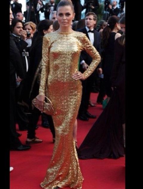 Виктория Боня в золотом платье покорила Канны Звездная жизнь Виктория Боня