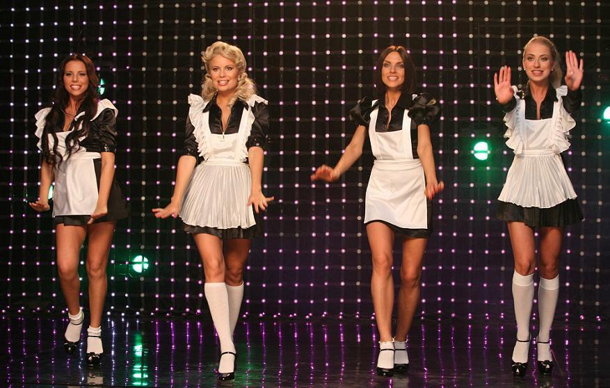 фото группы блестящие в юбках классными девочками