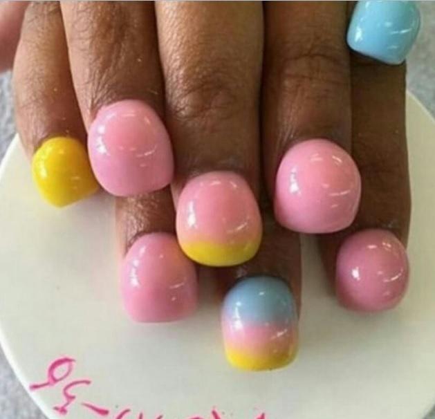 Ногти в пупырышках, объемный маникюр, bubble nails Фото