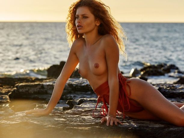 Юлия Ярошенко (Julia Yaroshenko) Фото - рыжеволосая модель в стиле ню