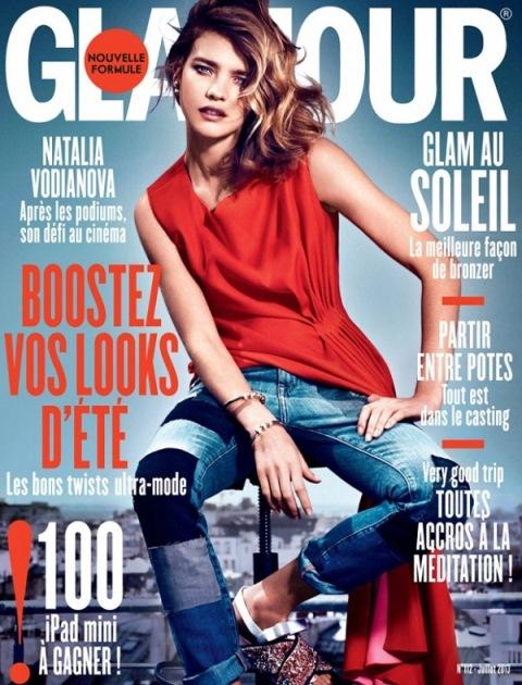 Наталья Водянова снялась на обложке Glamour