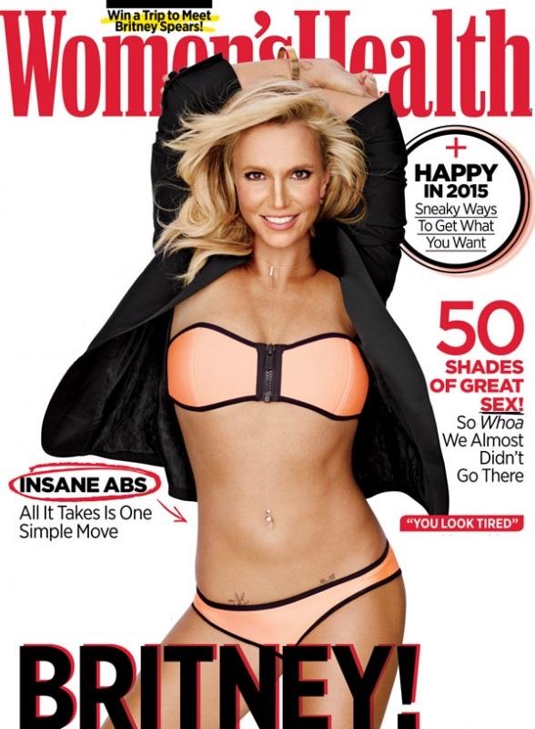 Бритни Спирс показала плоский животик и появилась на обложке журнала Womens Health