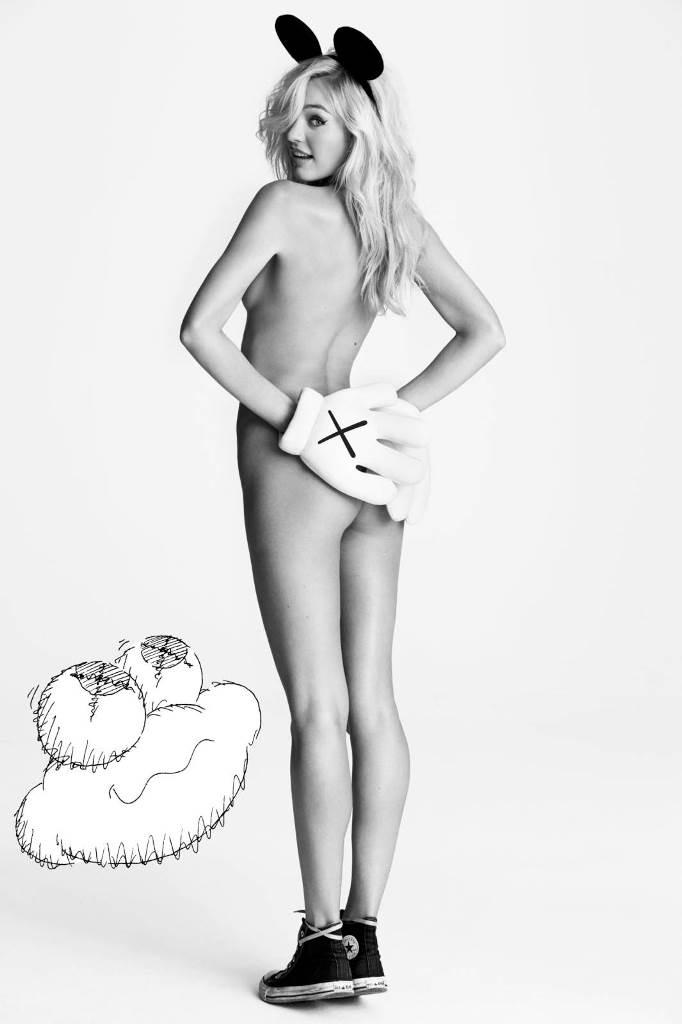 Кэндис Свейнпол в черной фотосессии для i-D Magazine