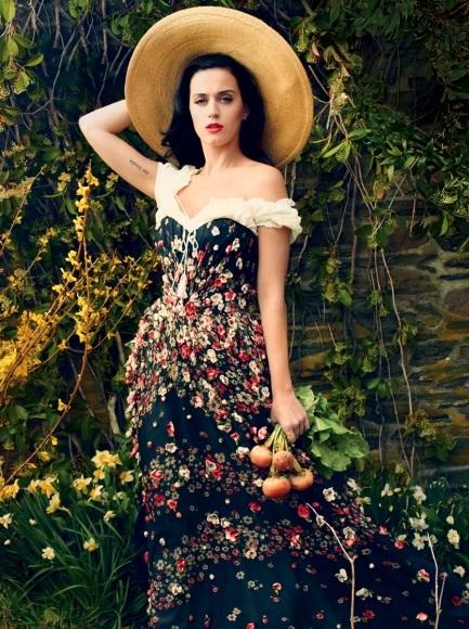 Американская певица Кети Перри примерила деревенский образ в Vogue Katy Perry Photo (Кети Перри Фото) американская певица / Страница - 1
